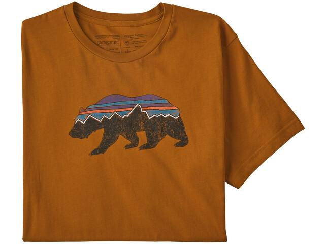 Patagonia Fitz Roy Bear Organic T-shirt Herr hammonds gold